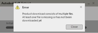 error product download consists